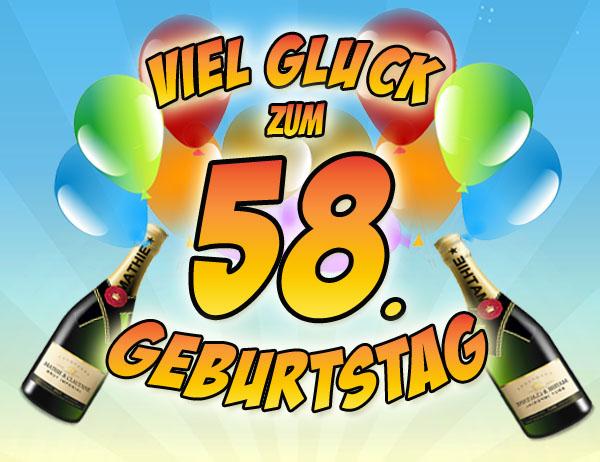 WhatsApp Glückwünsche zum 58. Geburtstag