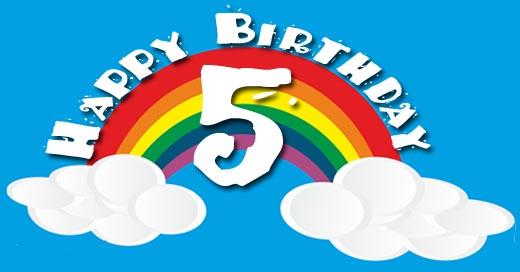Regenbogen zum 5. Geburtstag