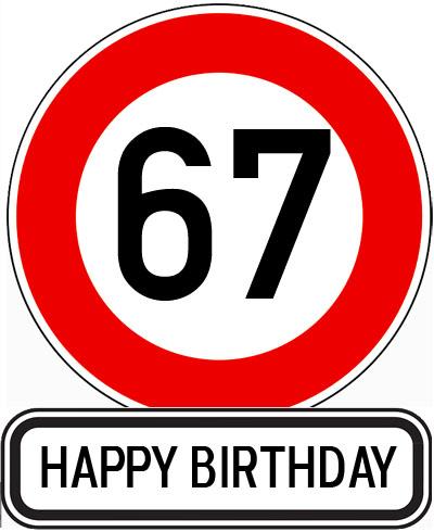 Geschwindigkeitsbegrenzung auf 67