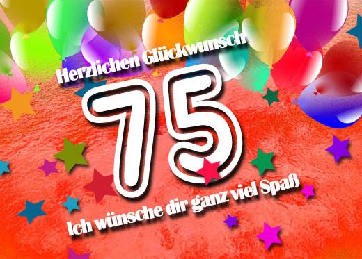 75 Geburtstag Gluckwunsche Und Spruche