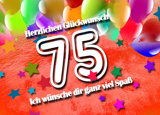 Süße Grüße zum 75. Geburtstag