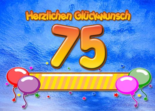 Glückwunsch zum 75. Geburtstag