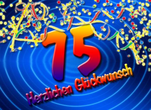 Feiern am 75. Geburtstag
