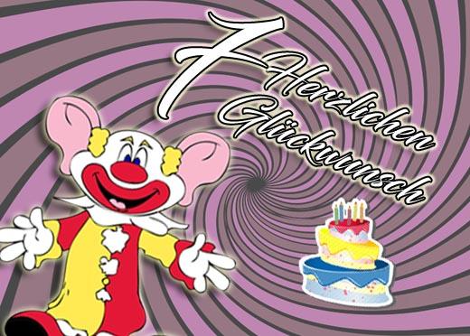 Lustiger Clown zum 7. Geburtstag