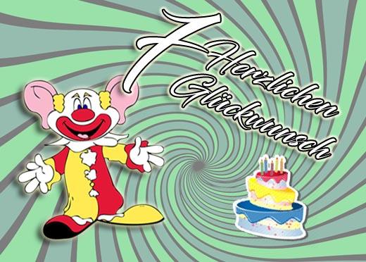 Clown zum 7. Geburtstag