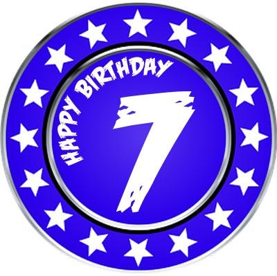 Medaille zum 7. Geburtstag