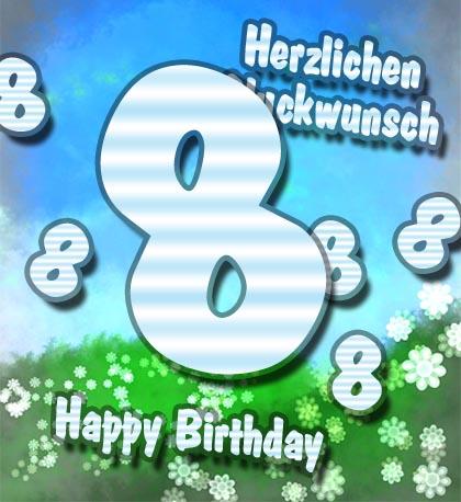 8 Geburtstag Gluckwunsche Und Spruche