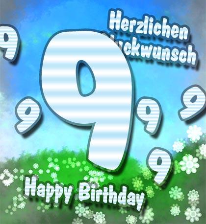 9. Geburtstag für Freunde