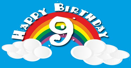 Regenbogen zum 9. Geburtstag