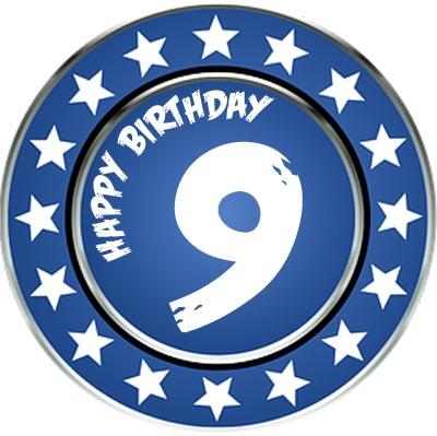 9. Geburtstag Happy Birthday