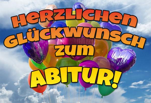 Bunte Ballons zum Abitur
