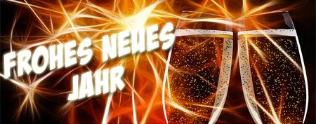 Champagner zum Anstoßen auf das neue Jahr