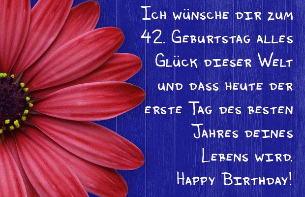 Blumen zum 42. Geburtstag