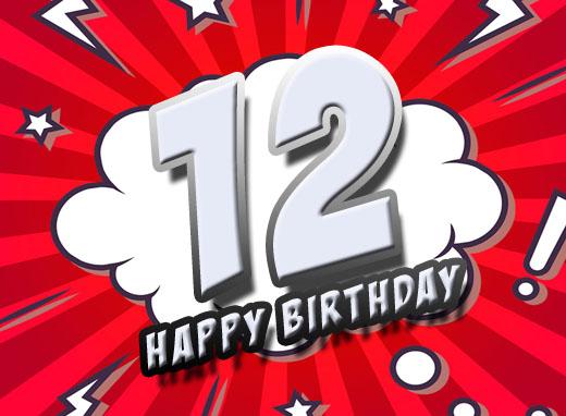 Geburtstagswünsche Zum 12