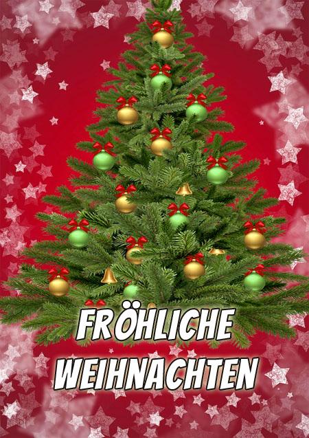 Weihnachtsbaum mit Grüßen