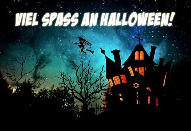 Gruselhaus zum Halloween