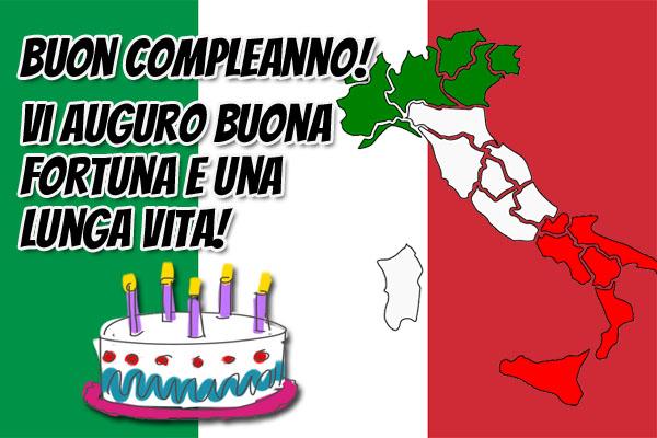 Italien Flagge Geburtstag