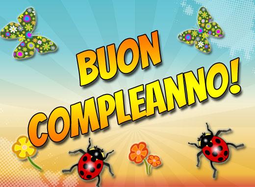 Viel Glück zum Geburtstag italienisch
