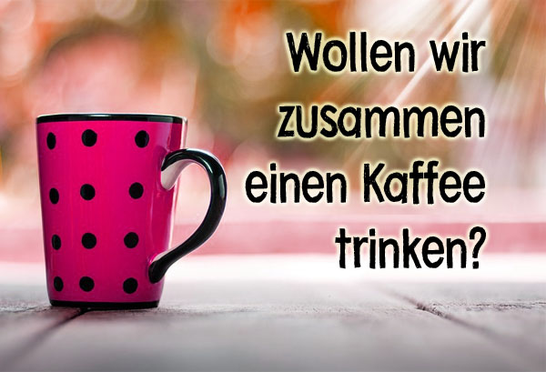 Einladung zum Kaffeetrinken für Frauen