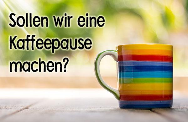 Regenbogentasse zur Kaffeeeinladung
