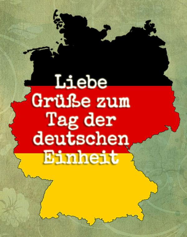 Deutschlandkarte zur deutschen Einheit