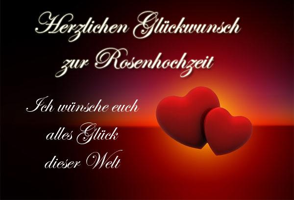 Romantisches Bild zur Rosenhochzeit