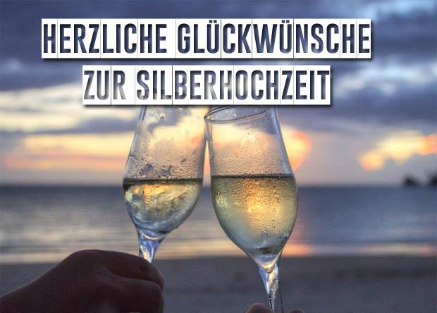 Champagner zur Silberhochzeit