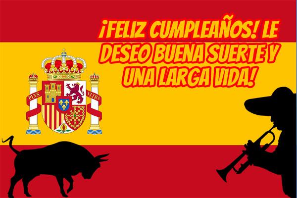Spanische Symbole und Flagge