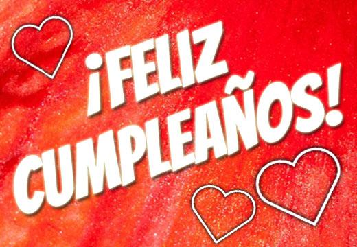 Liebe Geburtstagsgrüße nach Spanien