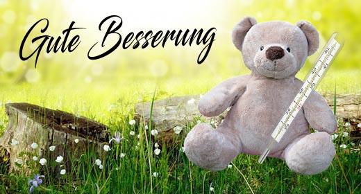 Süße Genesungswünsche mit Teddybär