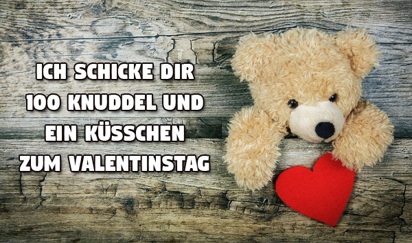 Süßer Bär zum Valentinstag