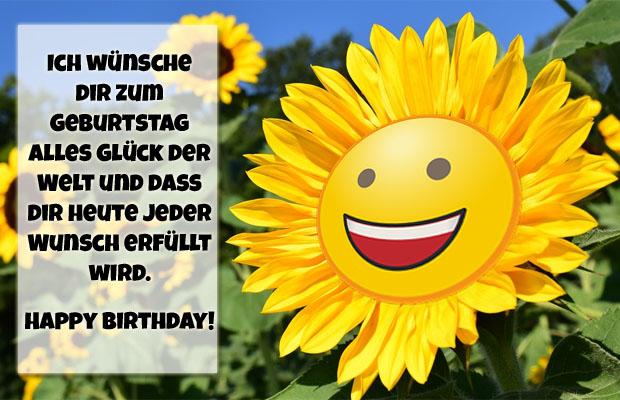 Smiley Geburtstagswünsche für WhatsApp