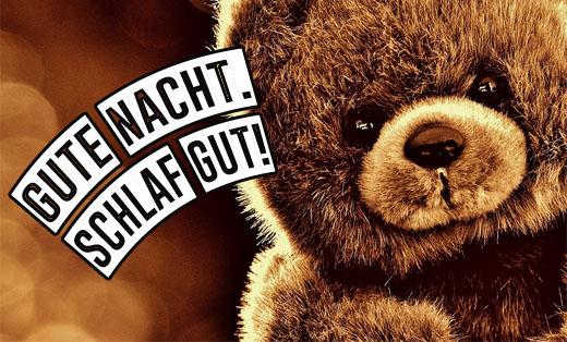 Süßer Teddy wünscht gute Nacht
