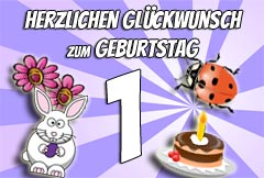 1. Geburtstag Glückwünsche