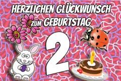 2. Geburtstag Glückwünsche