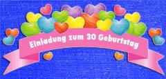 Einladungen zum 30. Geburtstag