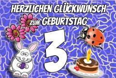3. Geburtstag Glückwünsche