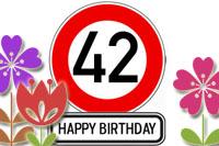 42. Geburtstag Glückwünsche