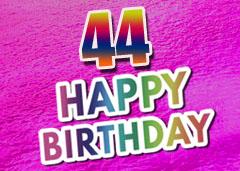 44. Geburtstag Glückwünsche