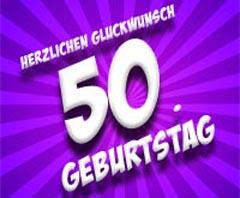 50. Geburtstag Glückwünsche