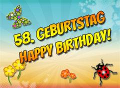 58. Geburtstag Glückwünsche