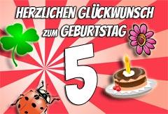 5. Geburtstag Glückwünsche