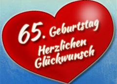 65. Geburtstag Glückwünsche