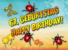67. Geburtstag Glückwünsche
