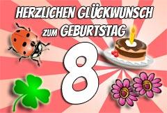 8. Geburtstag Glückwünsche