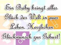 Glückwünsche zur Geburt