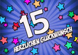 Glückwünsche und Sprüche zum 15. Geburtstag
