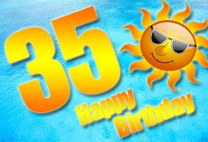 35. Geburtstag Glückwünsche und Sprüche