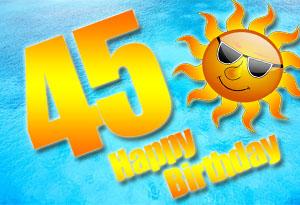 45. Geburtstag Glückwünsche und Sprüche