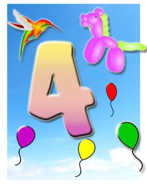 4. Geburtstag Glückwünsche